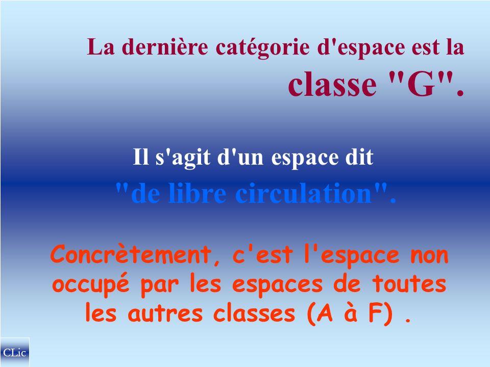 La dernière catégorie d espace est la classe G .