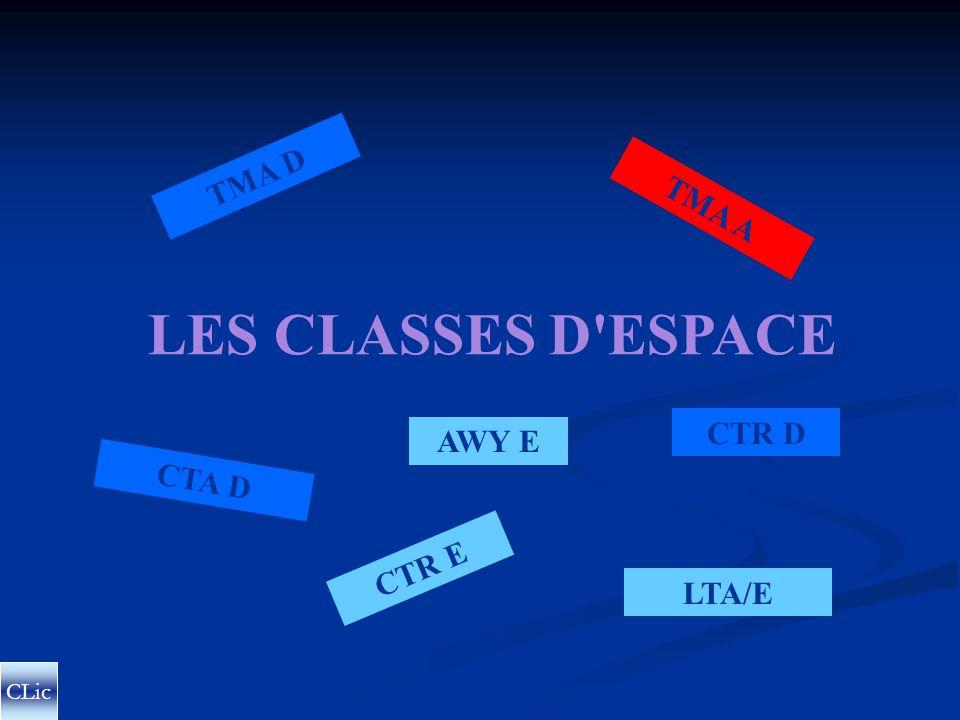 TMA D TMA A LES CLASSES D ESPACE CTR D AWY E CTA D CTR E LTA/E CLic
