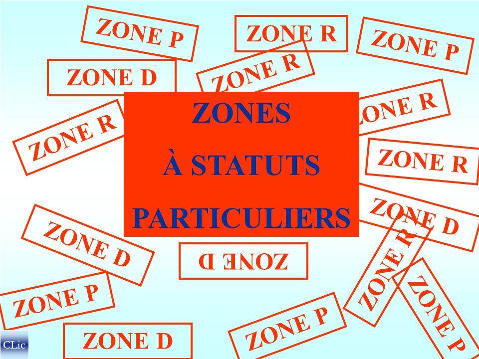 ZONES À STATUTS PARTICULIERS