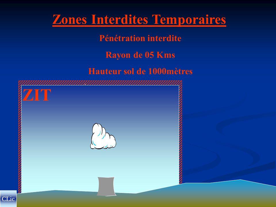 Zones Interdites Temporaires Pénétration interdite
