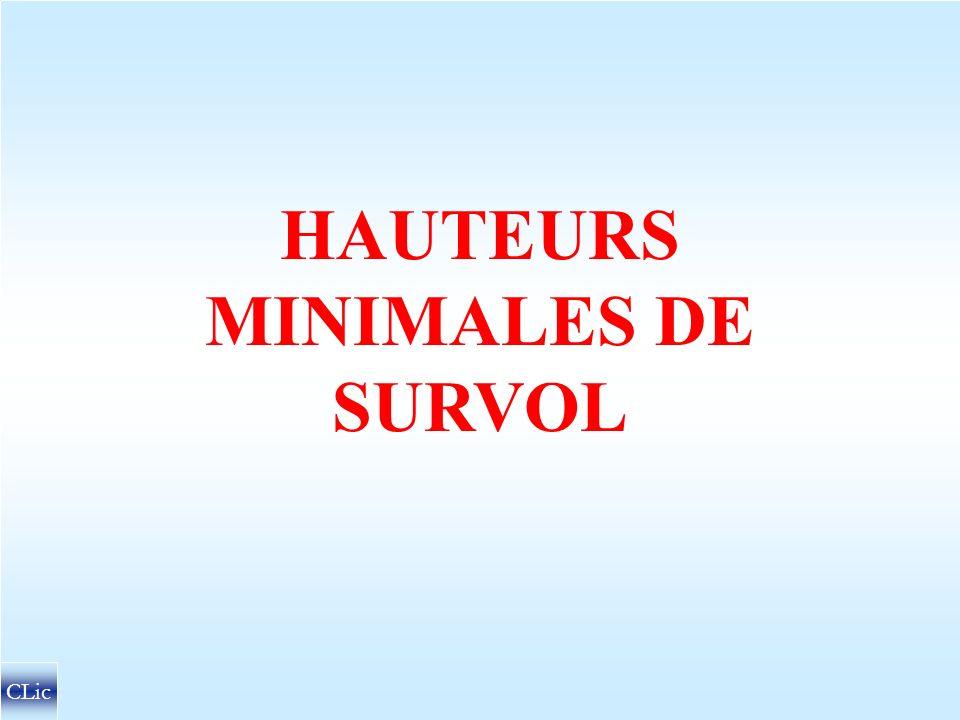 HAUTEURS MINIMALES DE SURVOL