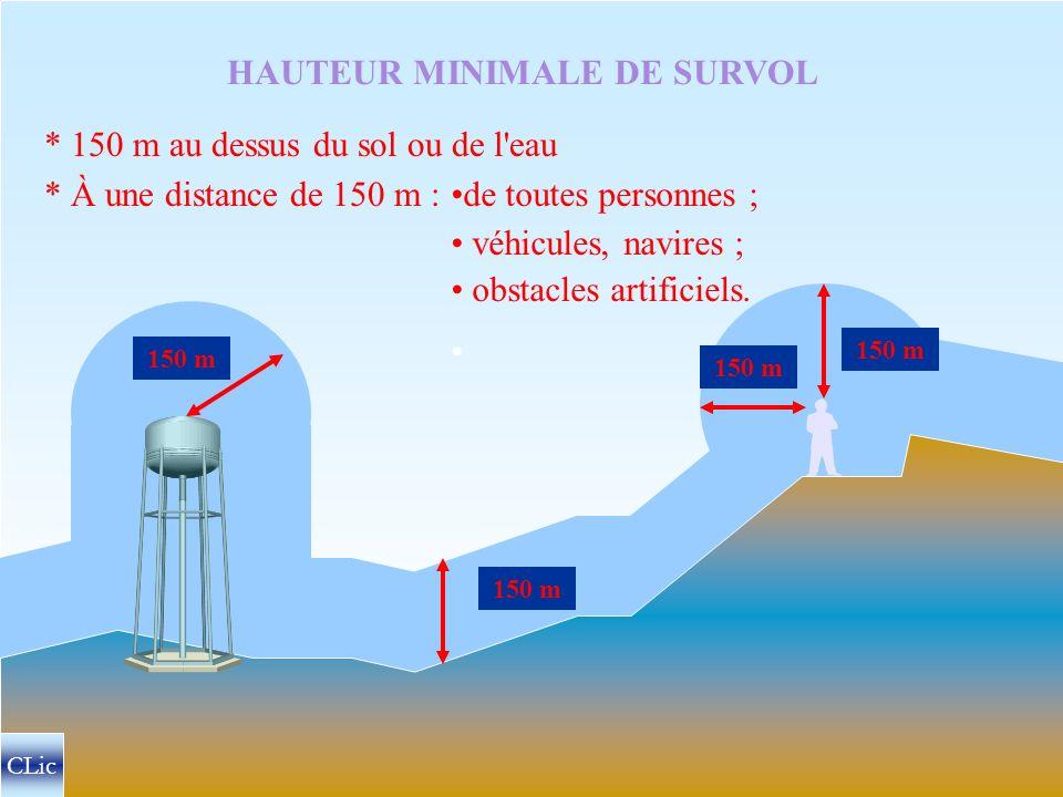 HAUTEUR MINIMALE DE SURVOL