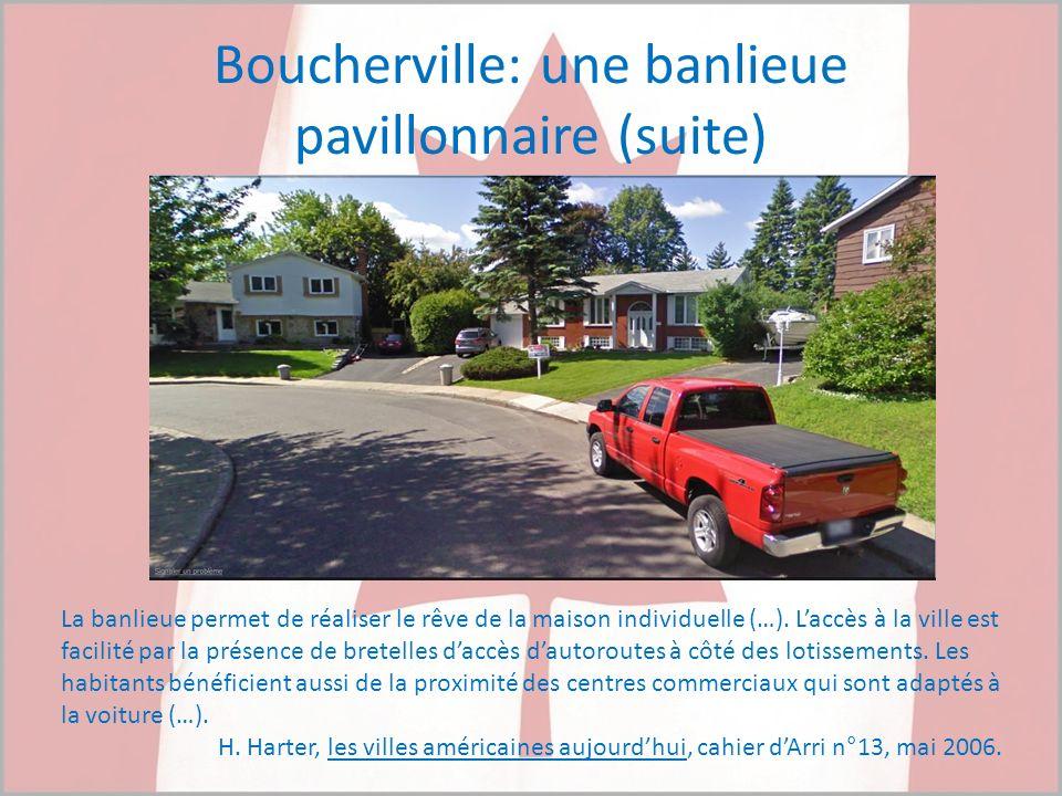 Boucherville: une banlieue pavillonnaire (suite)