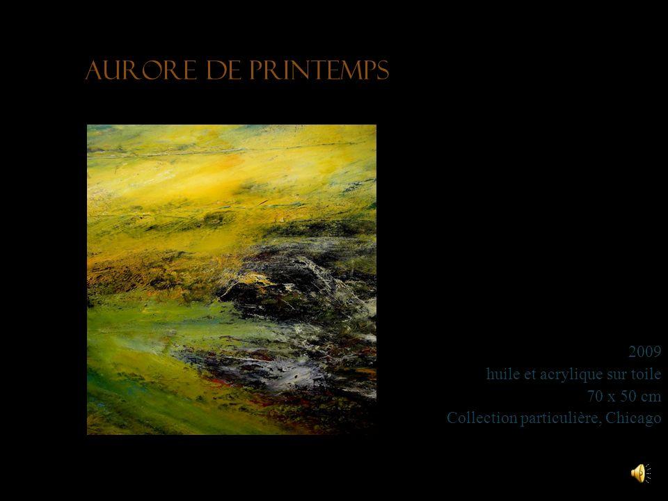 Aurore de printemps 2009 huile et acrylique sur toile 70 x 50 cm