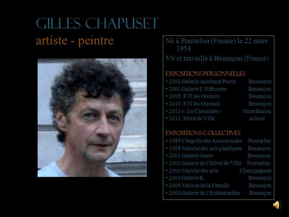 Gilles Chapuset artiste - peintre