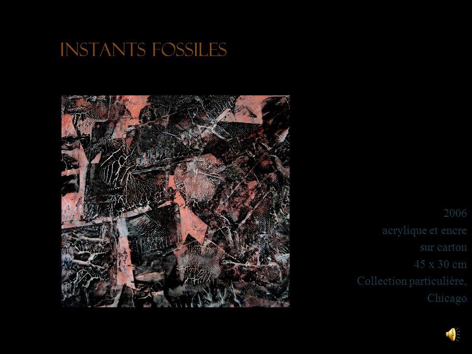 Instants fossiles 2006 acrylique et encre sur carton 45 x 30 cm