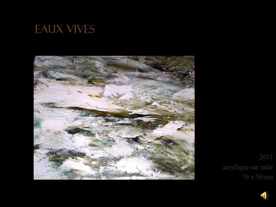 Eaux vives 2011 acrylique sur toile 70 x 50 cm