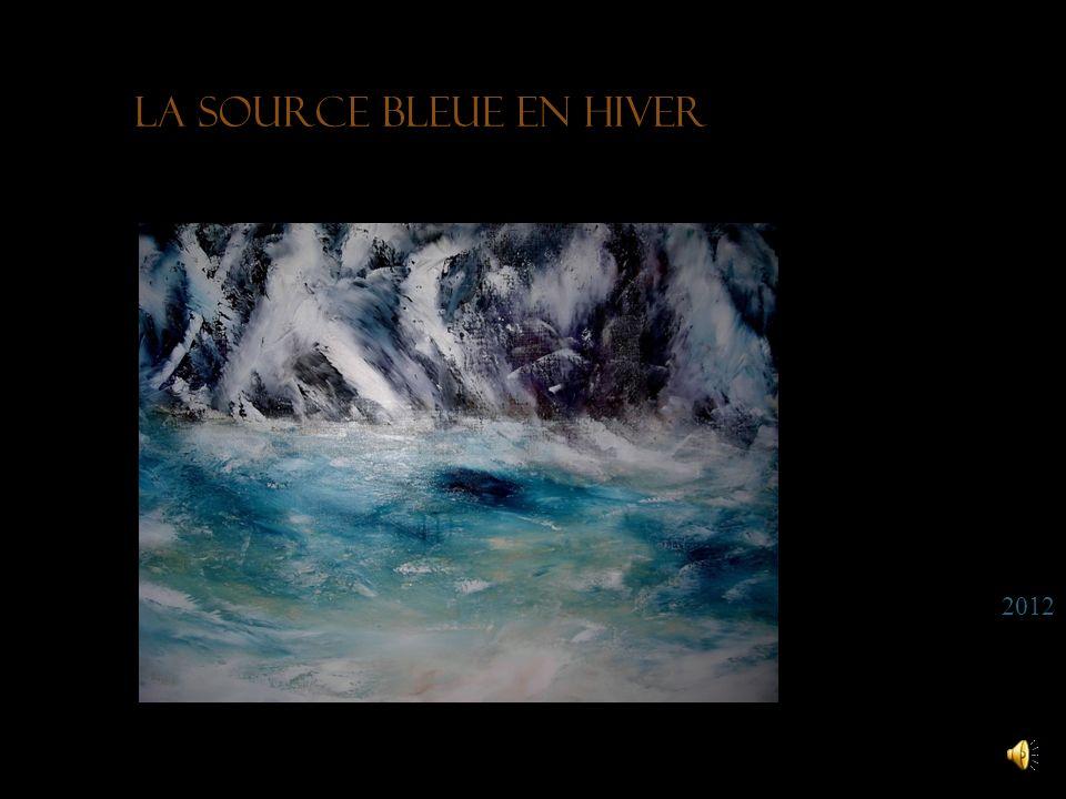 La source bleue en hiver