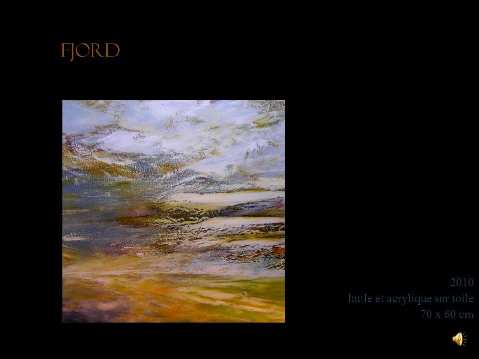 Fjord 2010 huile et acrylique sur toile 70 x 60 cm