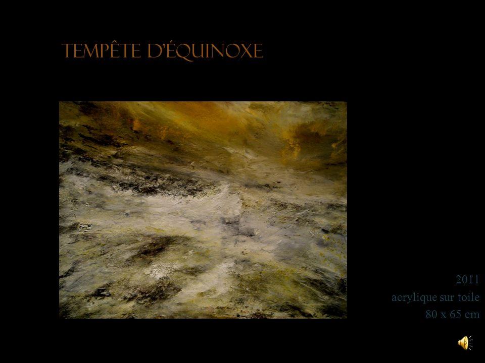 Tempête d'équinoxe 2011 acrylique sur toile 80 x 65 cm