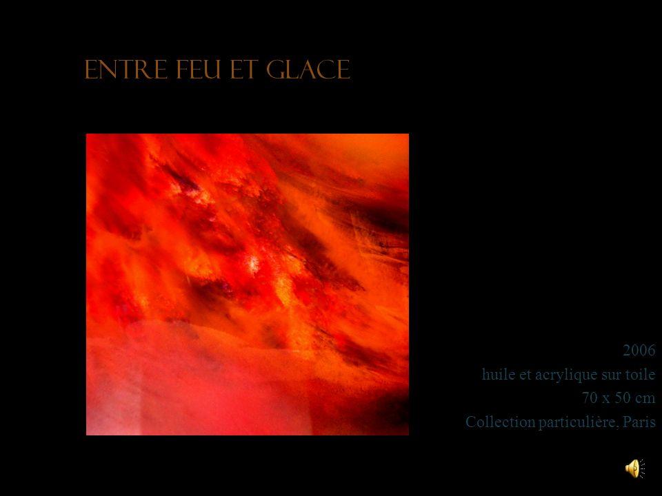 Entre feu et glace 2006 huile et acrylique sur toile 70 x 50 cm