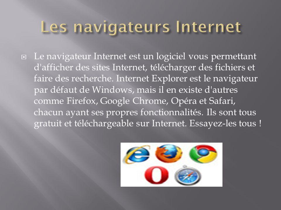 Les navigateurs Internet