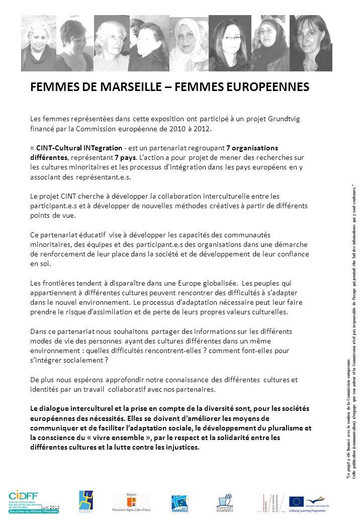 FEMMES DE MARSEILLE – FEMMES EUROPEENNES