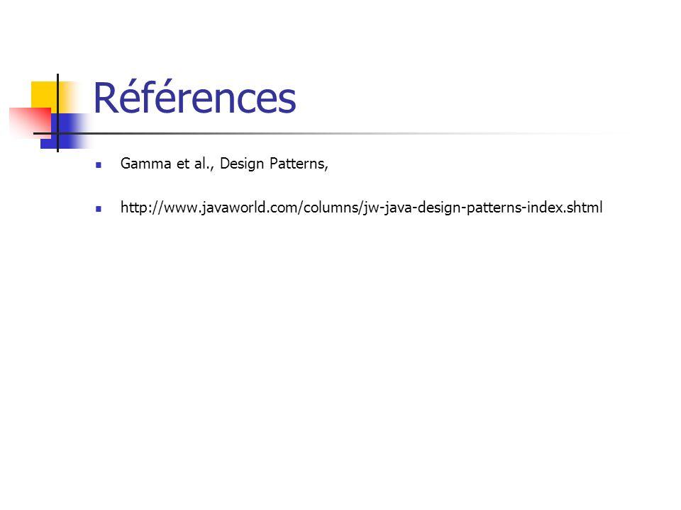 Références Gamma et al., Design Patterns,