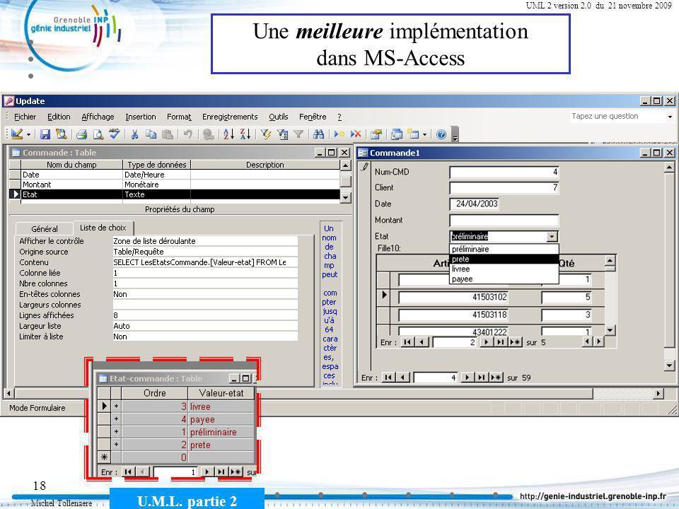 Une meilleure implémentation dans MS-Access