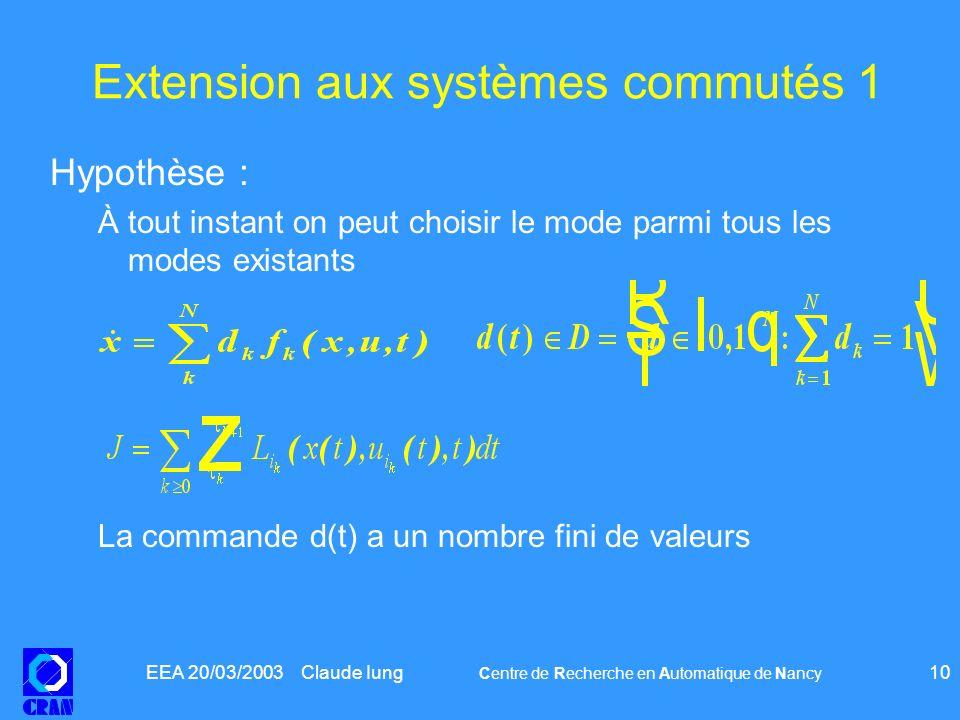 Extension aux systèmes commutés 1