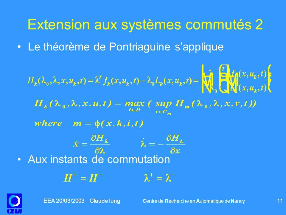 Extension aux systèmes commutés 2