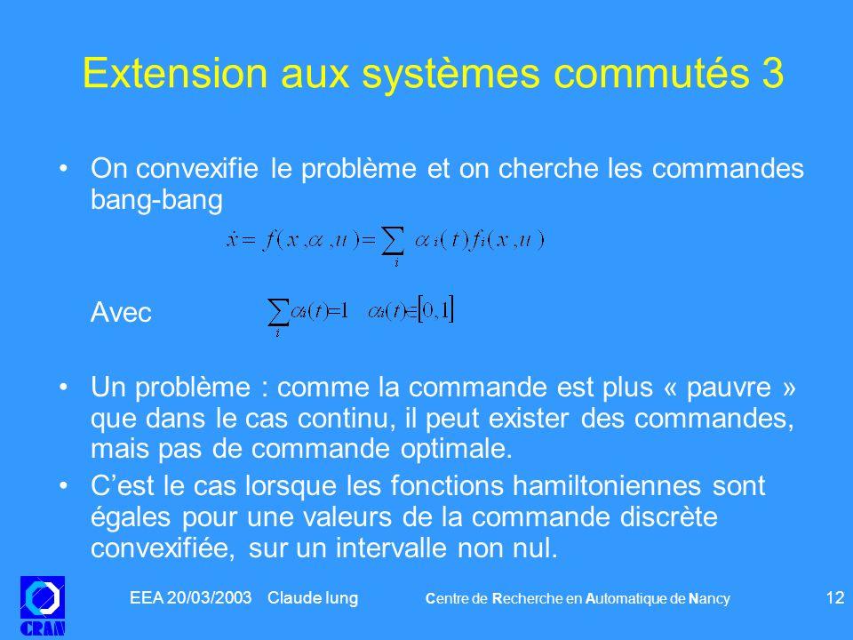 Extension aux systèmes commutés 3