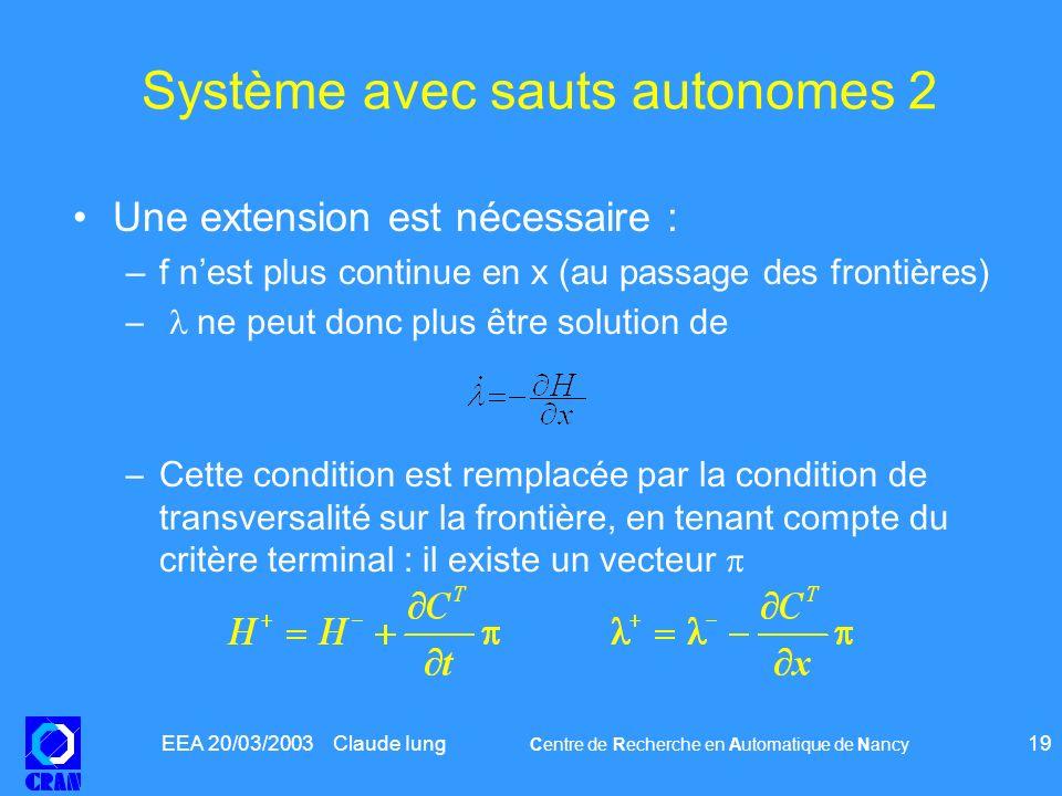 Système avec sauts autonomes 2