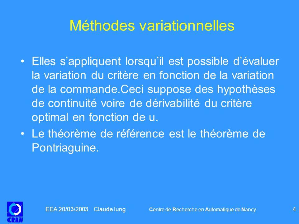 Méthodes variationnelles
