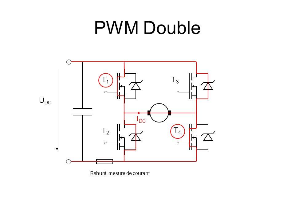 PWM Double T1 T3 UDC IDC T2 T4 Rshunt: mesure de courant