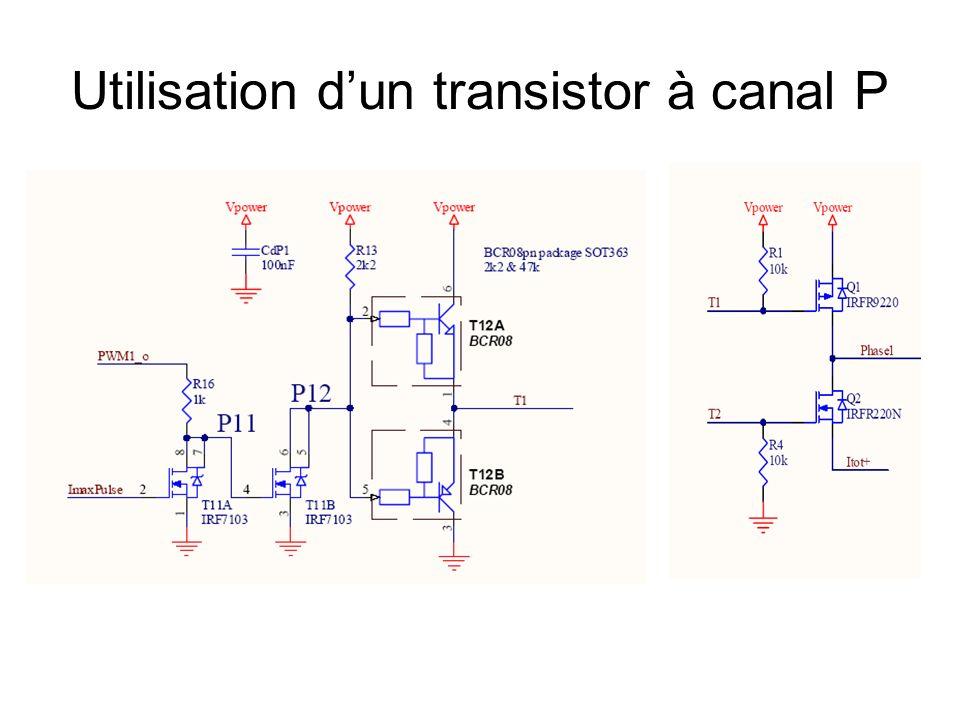 Utilisation d'un transistor à canal P