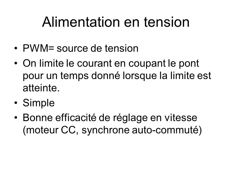 Alimentation en tension