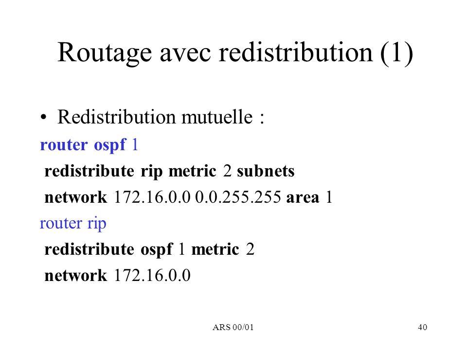 Routage avec redistribution (1)