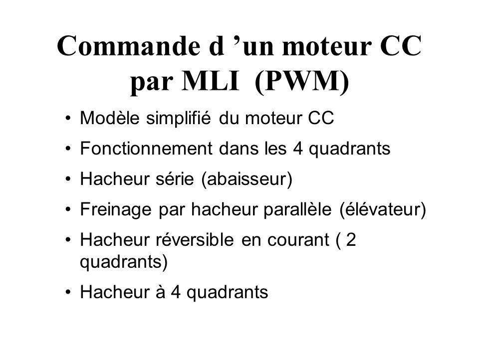 Commande d 'un moteur CC par MLI (PWM)