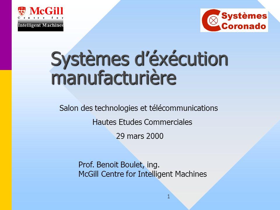 Systèmes d'éxécution manufacturière