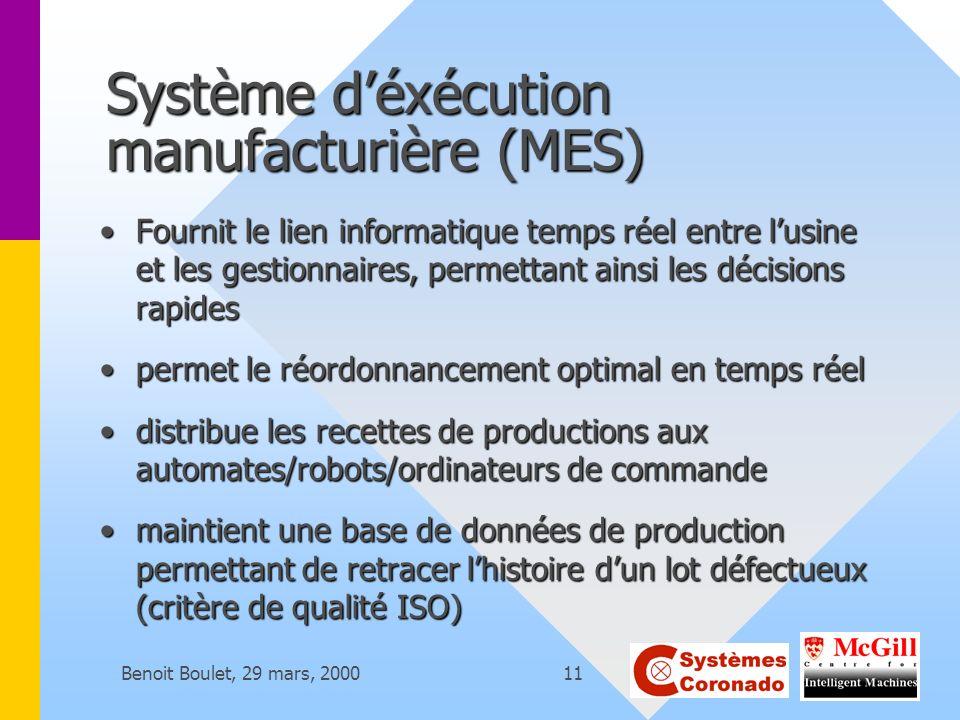 Système d'éxécution manufacturière (MES)