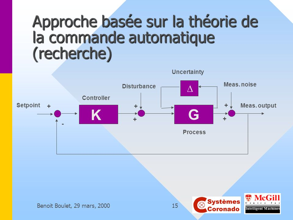 Approche basée sur la théorie de la commande automatique (recherche)