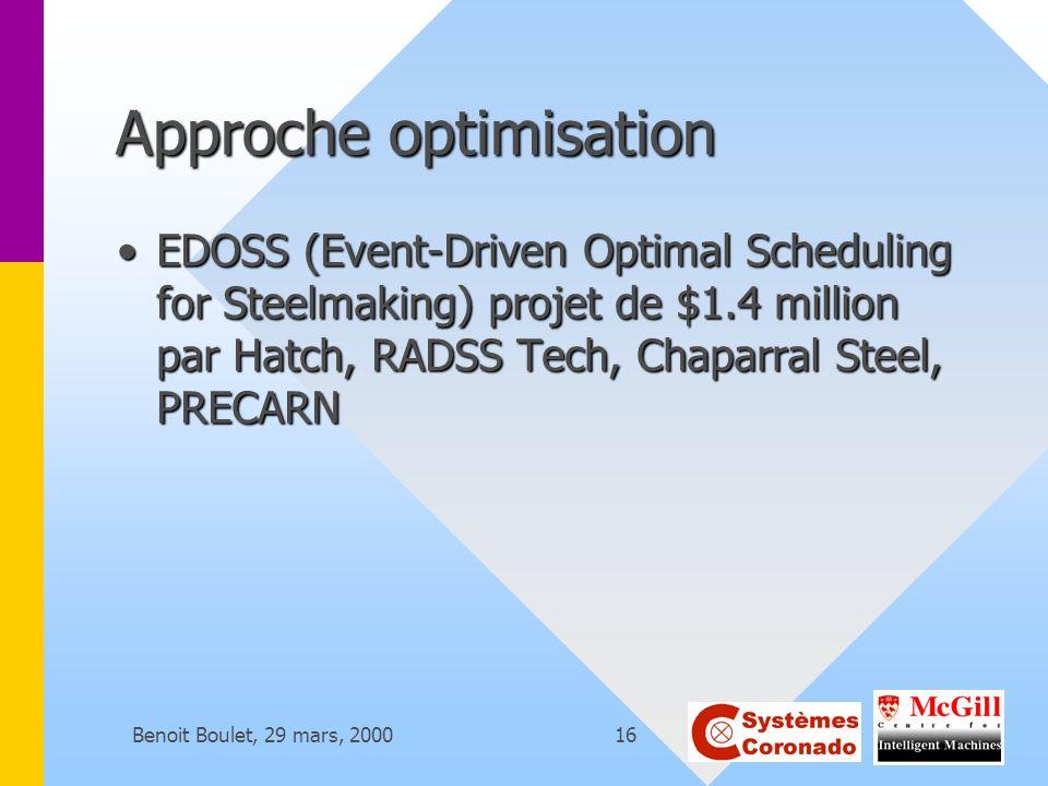 Approche optimisation