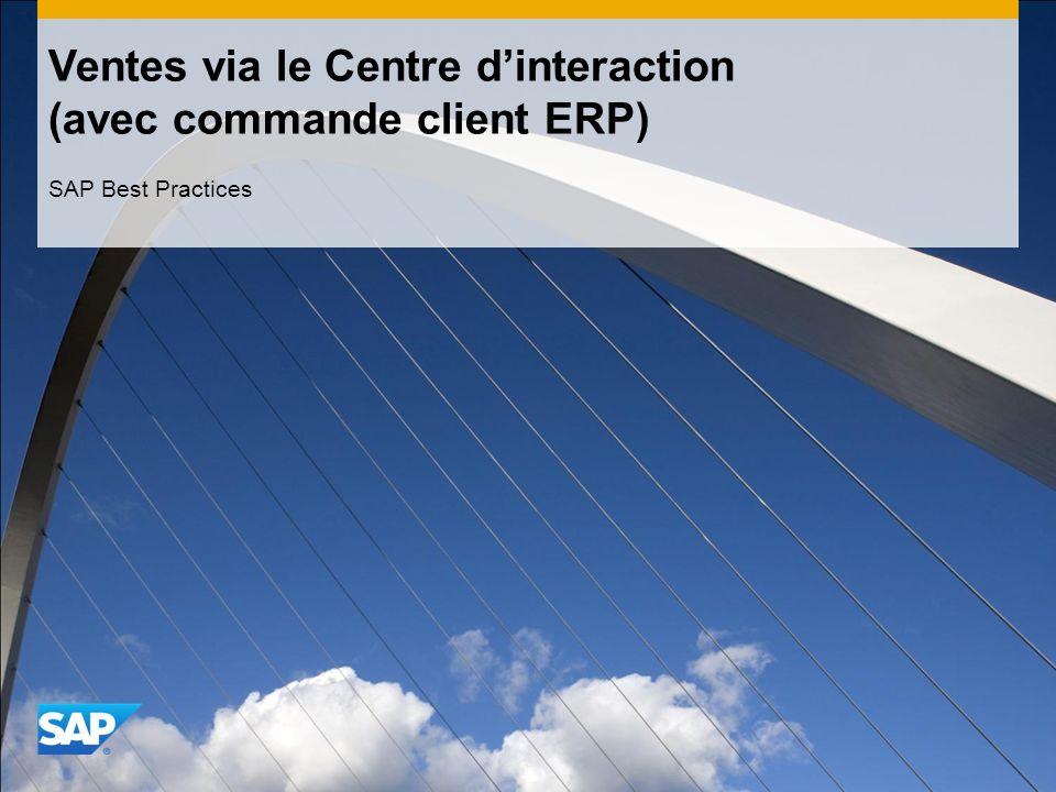 Ventes via le Centre d'interaction (avec commande client ERP)