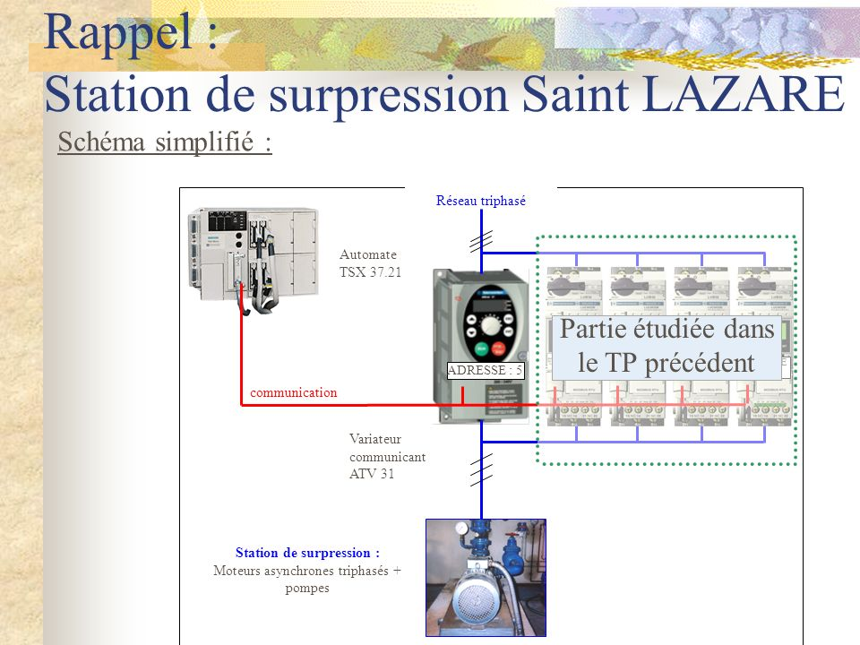Rappel : Station de surpression Saint LAZARE