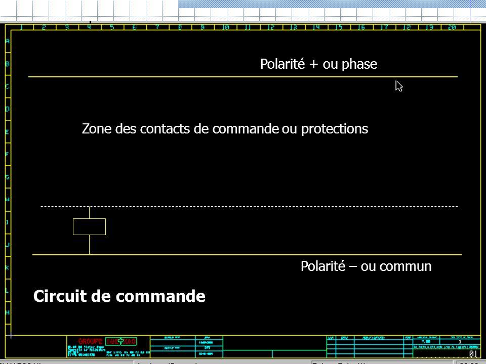 Circuit de commande Polarité + ou phase
