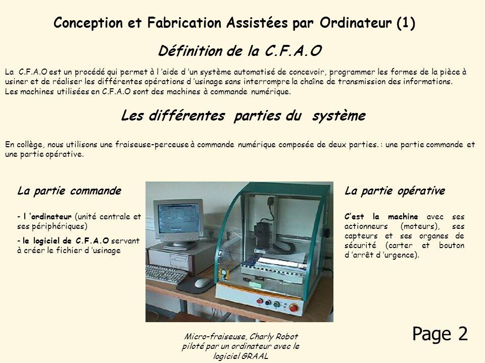 Page 2 Conception et Fabrication Assistées par Ordinateur (1)