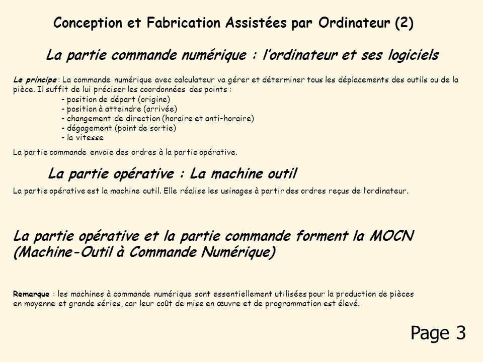Page 3 Conception et Fabrication Assistées par Ordinateur (2)