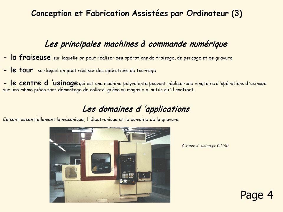 Page 4 Conception et Fabrication Assistées par Ordinateur (3)