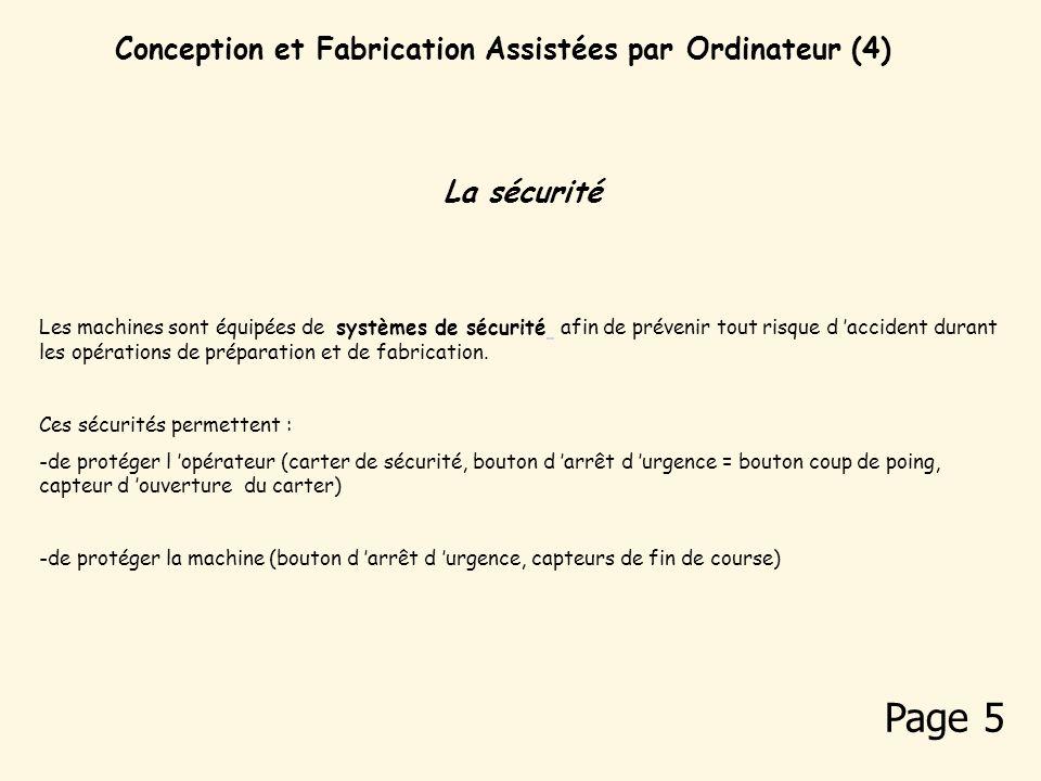 Conception et Fabrication Assistées par Ordinateur (4)