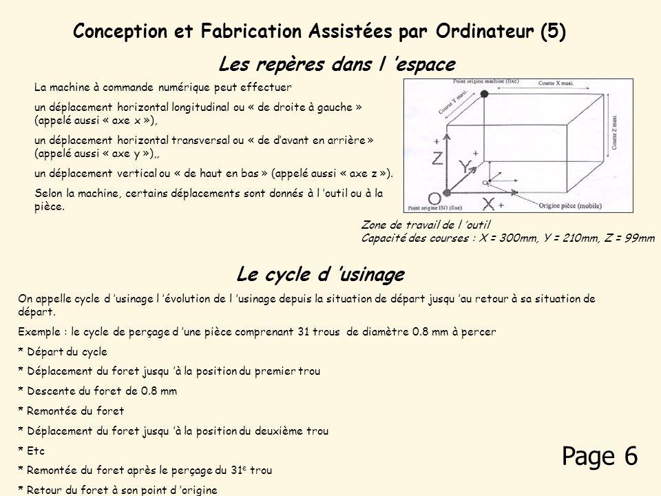 Page 6 Conception et Fabrication Assistées par Ordinateur (5)