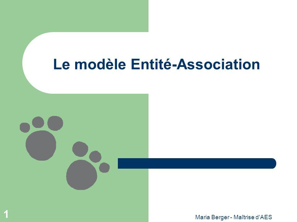 Le modèle Entité-Association