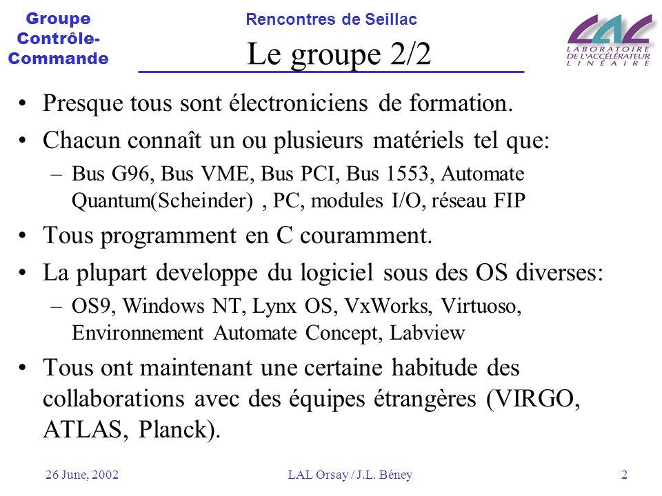 Le groupe 2/2 Presque tous sont électroniciens de formation.