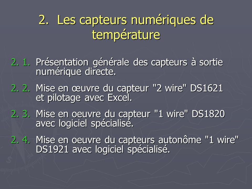 2. Les capteurs numériques de température