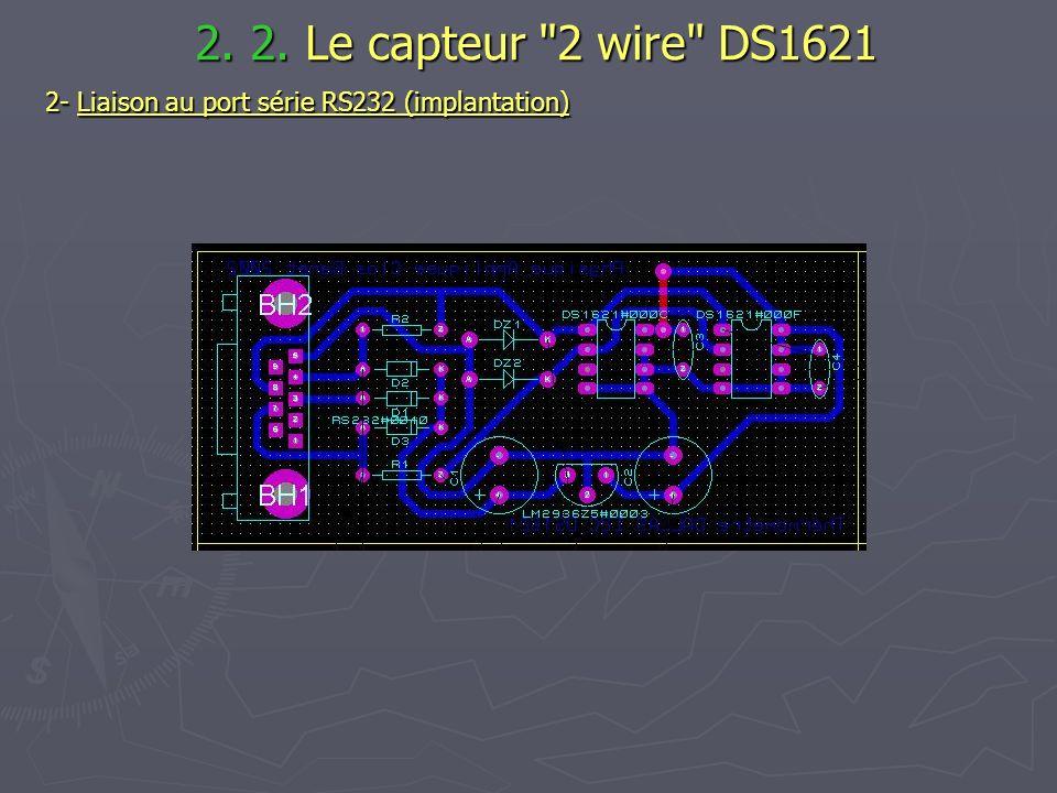 2. 2. Le capteur 2 wire DS1621 2- Liaison au port série RS232 (implantation)