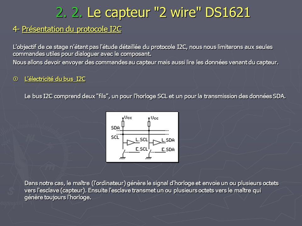 2. 2. Le capteur 2 wire DS1621 4- Présentation du protocole I2C