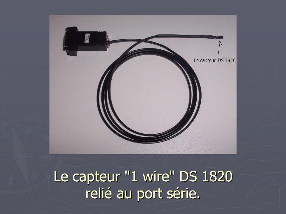 Le capteur 1 wire DS 1820 relié au port série.