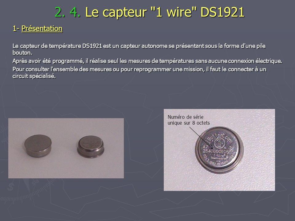 2. 4. Le capteur 1 wire DS1921 1- Présentation