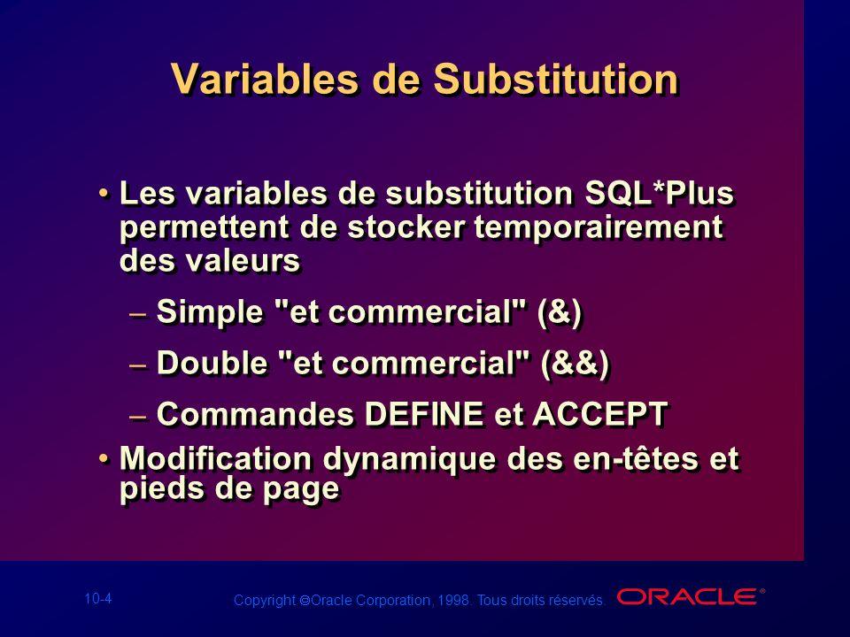 Variables de Substitution