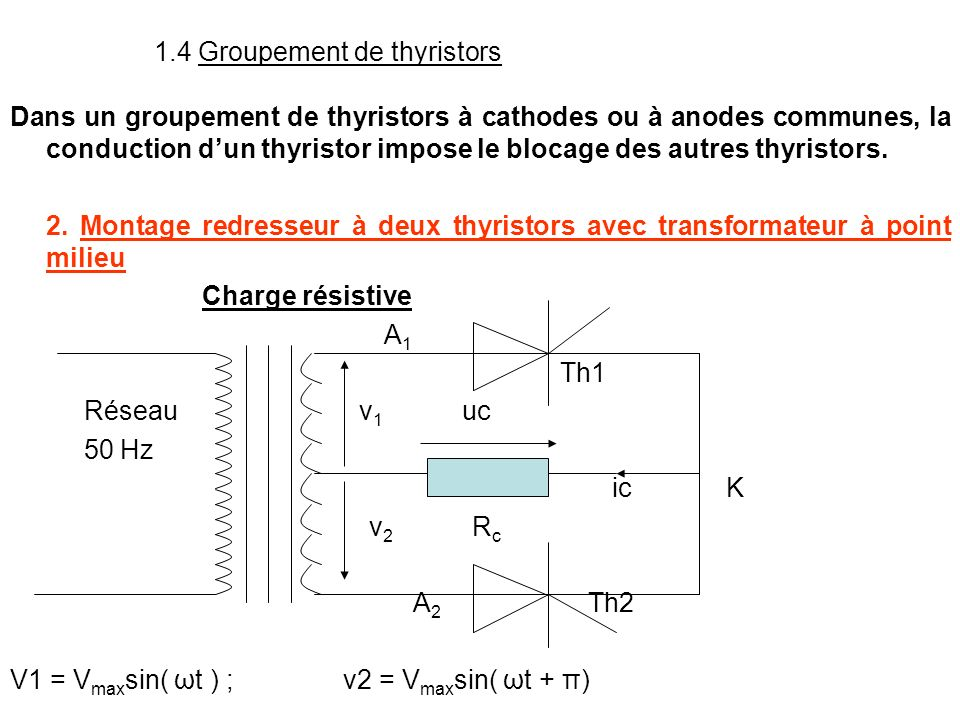 1.4 Groupement de thyristors
